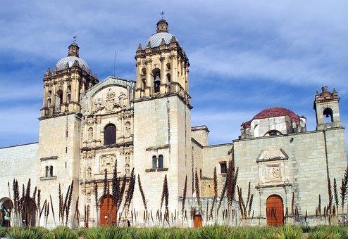 Mexico, Oaxaca, Cathedral, Parvis, Baroque