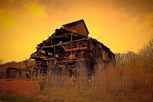 Ruin, Decay, Lapsed, Factory Building, Invaded, Old