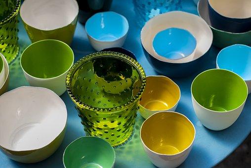 Bowl, Porcelain, Glass, Henkel, Stack, Paint, Tableware