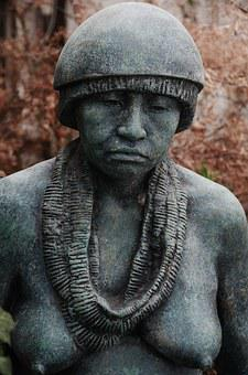 Statue, Woman, Head, Portrait, Melancholic, Monument