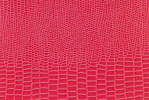 Textile, Snake Skin, Pink, Red, Pattern, Texture