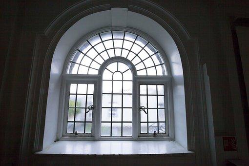Window, Old, Antique, Round Arch, Half Circle, Squares