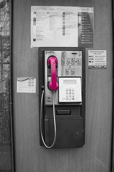 Telephone, Pink, Phone, Communication, Technology