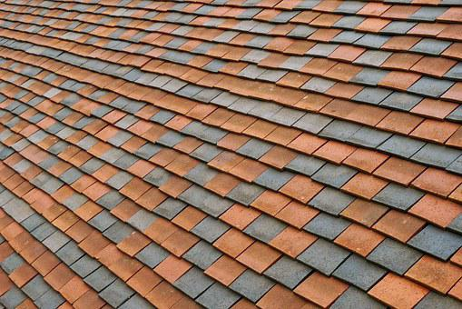Roof, Tiles, Pattern, Texture, Terracotta, Red, Grey