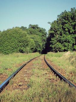 Track, Path, Train, Trees, Heaven, Tree, Nature, Green
