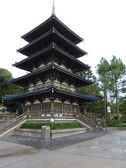 Epcot, Walt Disney World, Pagoda, Japanese Architecture