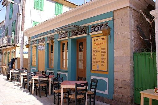 Lefkada, Island, Greece, Tavern, Bar, Architecture