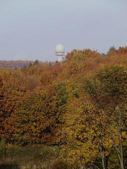 Radar Station, Bánkút, Beech Mountain, Autumn Forest