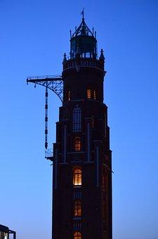 Lighthouse, Bremerhaven, Councillors, Daymark, Twilight