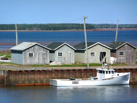 Fisher Huts, Boats, Water, Buildings, Heritage, Hut