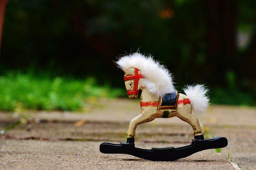 Rocking Horse, Toys, Wooden Horse, Children, Wood, Play