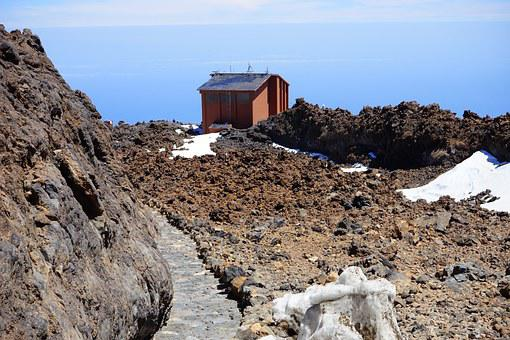 Teide, Descent, Away, Path, Station, Cable Car Station