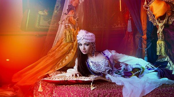 Eastern Girl, Girl And Hookah, Beautiful, Harem, Barn