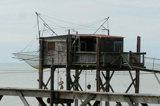 Fisherman's Hut, Pile Construction, Fishing, Boardwalk