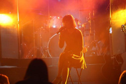 Singer, Performance, Stage, Sing, Woman, Girl, Event