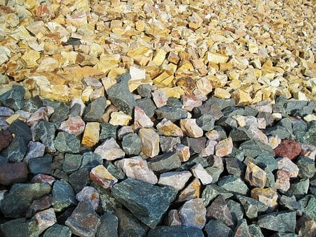 Gravel, Stones, Coloured, Construction, Material