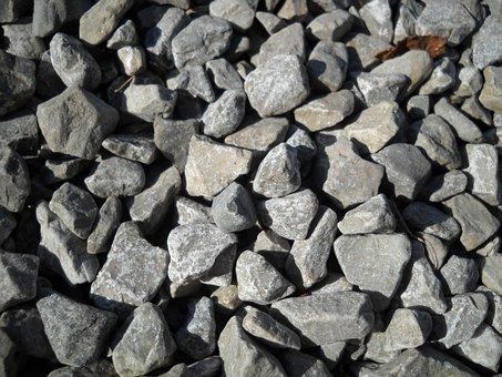 Gravel, Rock, Stones, Grey, Pebble, Granite, Material