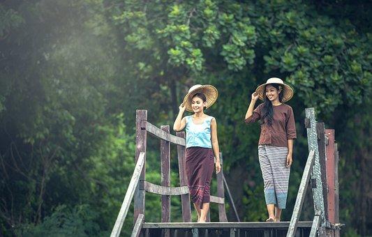 Lady, Asia, Pretty, Cambodia, Jovial, Culture, Pinch