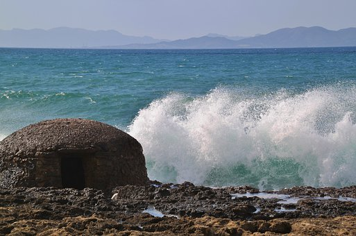 Wave, Beach, Sea, Water, Nature, Bank, Landscape