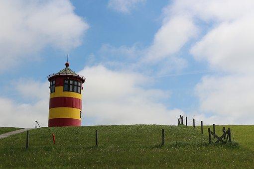 Lighthouse, East Frisia, Pilsum, Otto Waalkes
