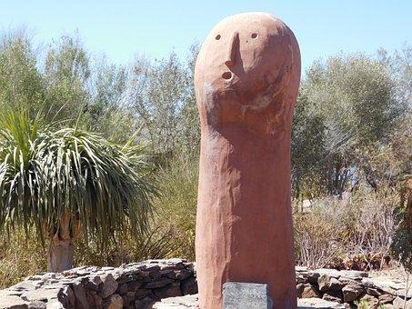 Idol, Statue, Desert, Face, Los Caserones