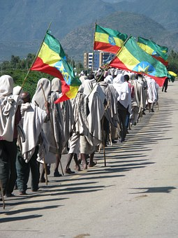 Ethiopia, March, Africa, People, Protest