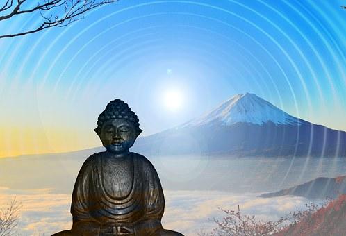 Meditation, Positive, Think Positive, Buddha, Mountain