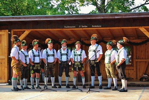 Bavaria, Germany, Allgäu, Costume, Sing, Men, Customs