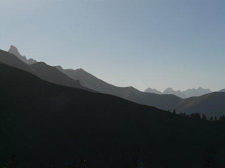 Trettachspitze, Mountains, Mountain Panorama