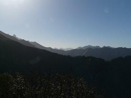 Mountains, Mountain Panorama, Aelpelesattel, Panorama