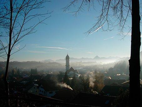 Nesselwang In The Haze, Allgäu
