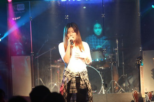 Stage, Singer, Performance, Sing, Woman, Girl, Event