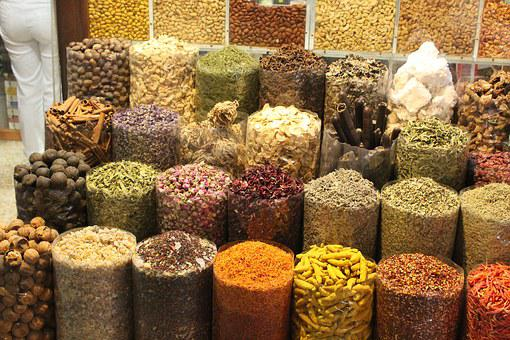 Spices, Spice Market, Market, Dubai, Uae, Paprika