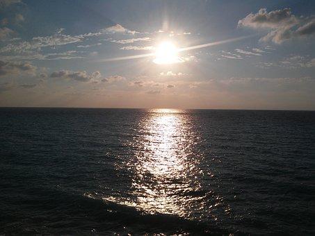 Megali Petra, Sunset Beach, Sunset Lefkada, Sun
