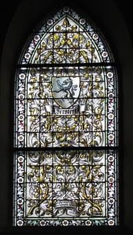 Berstett, Protestant Church, Stained Glass, Window