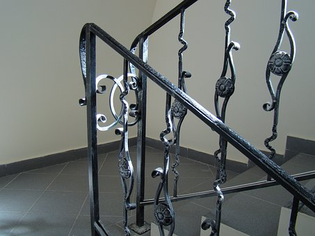 Railing, Ladder, Stage, The Descent, Wrought Iron
