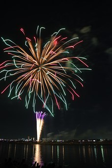 Zigzag, Colorful, Fireworks, Hanabi, Colored, Color