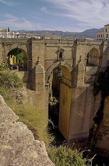 Bridge, Ronda, Spain, Valley Landscape, Tourist, Europe
