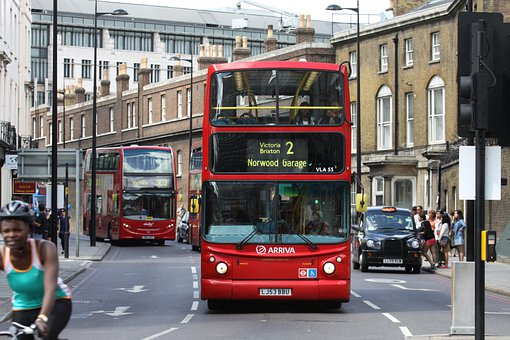 London, Bus, Traffic, Double Decker, Red