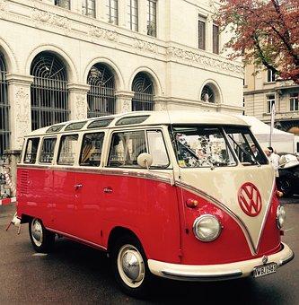 Vw, Bus, Oldtimer, Volkswagen, Camping Bus, Camper