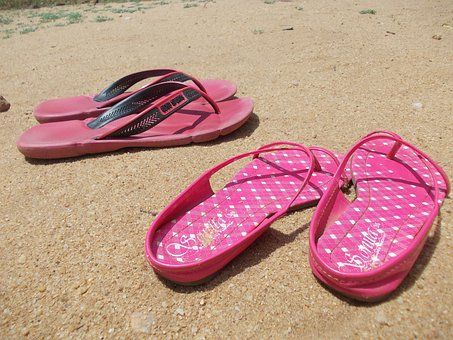 Sandals, Flip Flops, Flip-flops, Footwear, Shoes, Sand