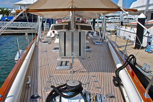 Sailboat, Boat Deck, Foredeck, Teak Deck, Hatches, Boat
