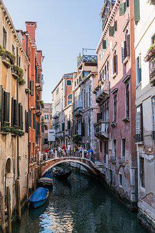 Venice, Italy, Canal, Architecture, Gondola, Bridge