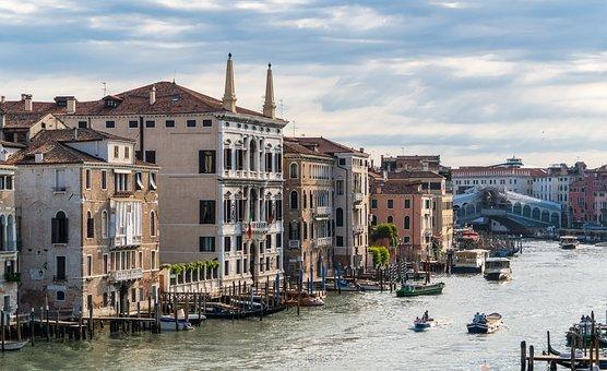 Venice, Italy, Rialto Bridge, Grand Canal, Europe