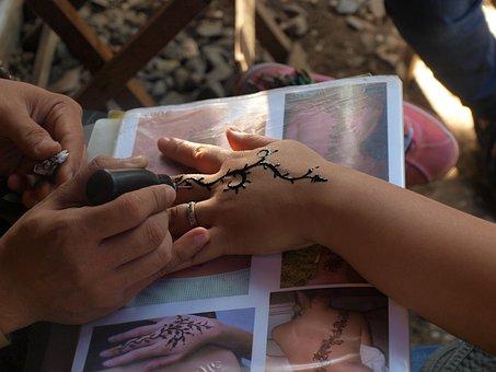 Henna, Tattoo, Art, Hand, Design, Tribal, Traditional