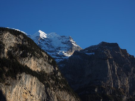 Virgin, Lauterbrunnen, Steep, Steep Wall, Rock Wall