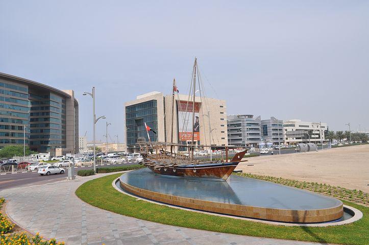 łódz, Monument, Fountain, Dubai, City