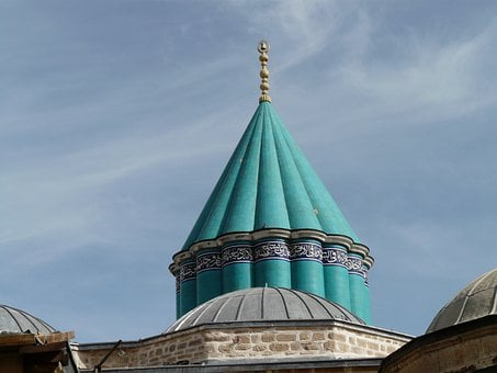 Mosque, Roof, Blue, Konya, Mausoleum, Mevlana