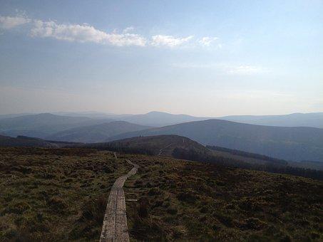 Mountain, Path, Sky, Outdoors, Nature, Ireland