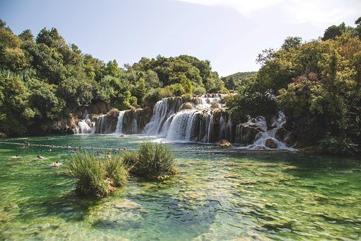 Waterfall, Park, Nature, Water, Landscape, Travel